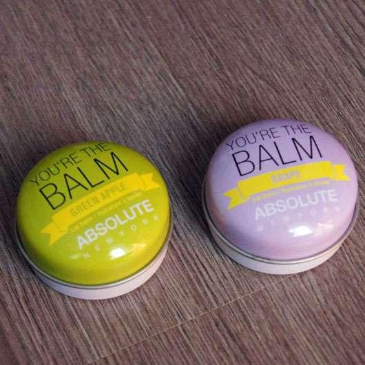 """ABSOLUTE NEW YORK Duo Lip Balm """"You're the balm"""" (Green Apple + Grape) - beide Dose geschlossen"""