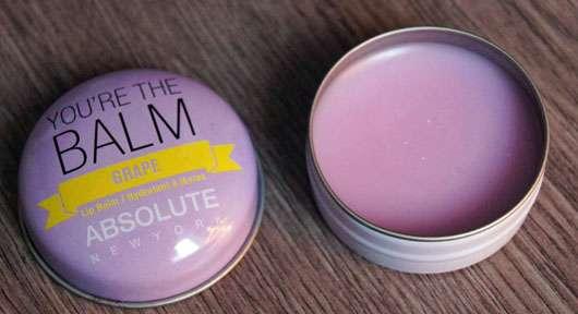 "ABSOLUTE NEW YORK Duo Lip Balm ""You're the balm"" (Green Apple + Grape) - geöffnete Dose"