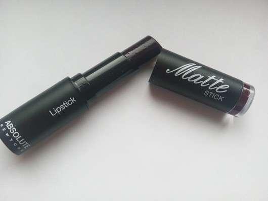 ABSOLUTE NEW YORK Matte Stick Lipstick, Farbe: NFA60 Old Mauve - geöffnet