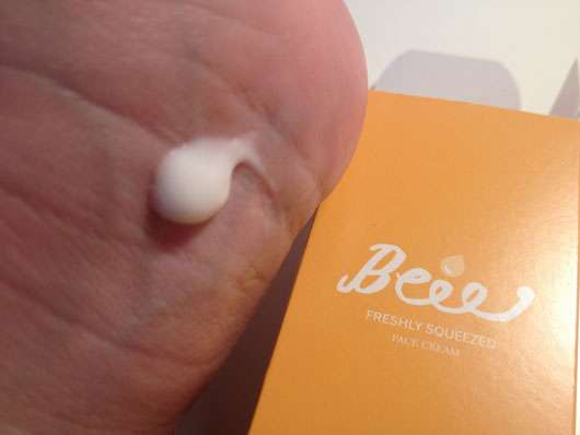 "Beauty Beee Gesichtspflege ""Beee Freshly Squeezed"" Konsistenz"