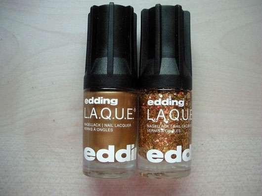 edding L.A.Q.U.E. heavy M.E.T.A.L.S. Nagellack, Farbe: full metal G.O.L.D. (LE) - Flaschen
