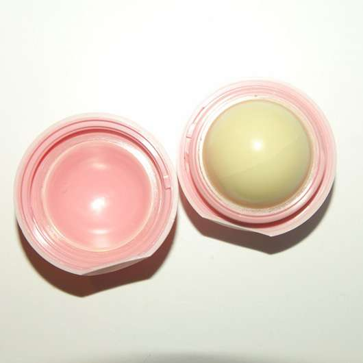 eos Visibly Soft Lip Balm, Sorte: Coconut Milk - geöffnet
