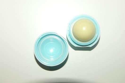 eos Visibly Soft Lip Balm, Sorte: Vanilla Mint geöffnet