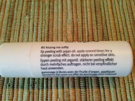essence smoothing lip peeling - Verpackungsrückseite