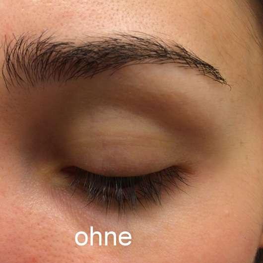 essence make me brow eyebrow gel mascara, Farbe: 02 browny brows Brauen vor dem Auftragen