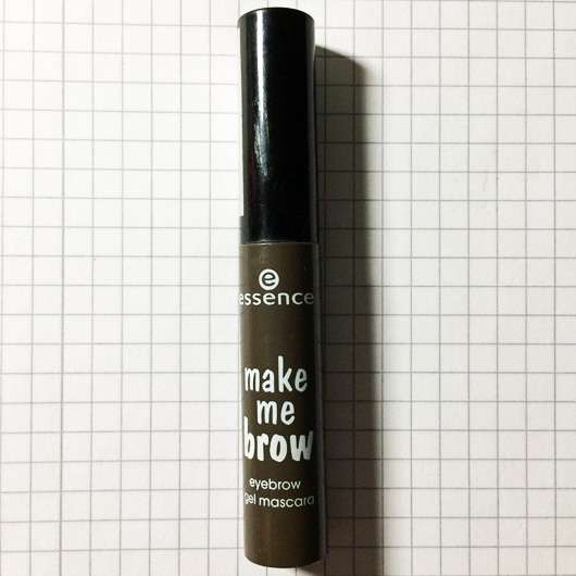 essence make me brow eyebrow gel mascara, Farbe: 02 browny brows Verpackung und Design