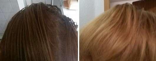 Vorher/nachher Ergebnis des FAST Shampoo/Conditioner Sets