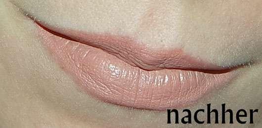just cosmetics matte finish lipstick, Farbe: 130 sensation-auf den lippen