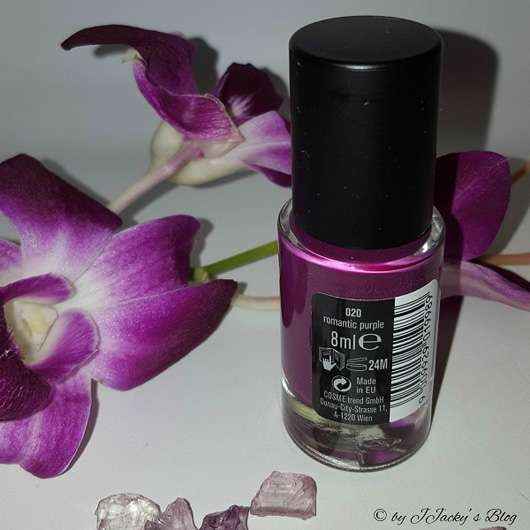 just cosmetics vivacious beauty gaucha's choice velvet nail polish, Farbe: 020 romantic purple (LE)