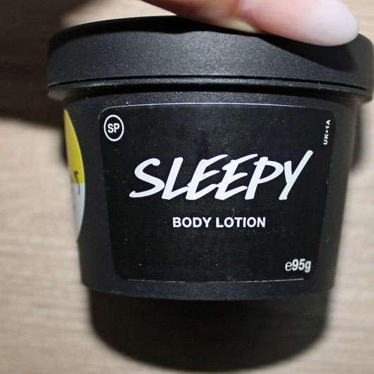 LUSH Sleepy (Bodylotion, LE) - Tiegel