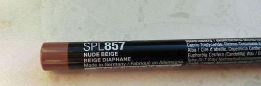 NYX Slim Lip Pencil, Farbe: 857 Nude Beige Kleingedrucktes