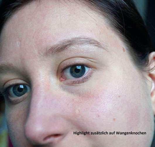 p2 perfect brow fixing + highlighting pen, Farbe: 010 take two - Gesicht mit Highlighter