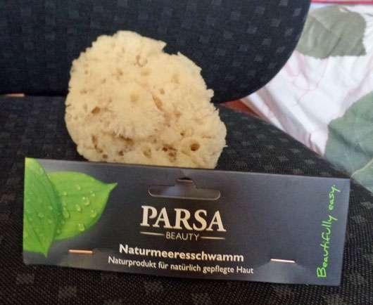PARSA Beauty Naturmeeresschwamm - ausgepackt