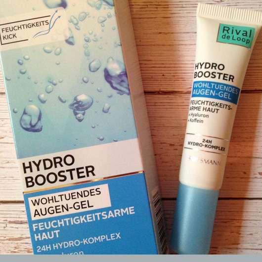 Rival de Loop Hydro Booster Wohltuendes Augen-Gel Verpackung und Tube