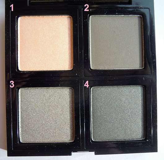 The Body Shop Down to Earth Quad Palette, Farbe: 03 Grey - geöffnet