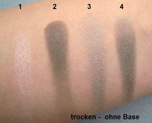 The Body Shop Down to Earth Quad Palette, Farbe: 03 Grey - Swatch auf Arm ohne Base