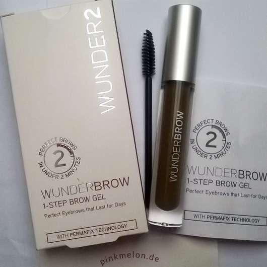 WUNDER2 WUNDERBROW Semi Permanent Eyebrows-Gel, Farbe: Black/Brown Verpackung und Design