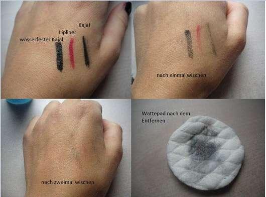 Yves Rocher Pur Bleuet Express Augen-Make-up-Entferner - Collage mit Ergebnissen