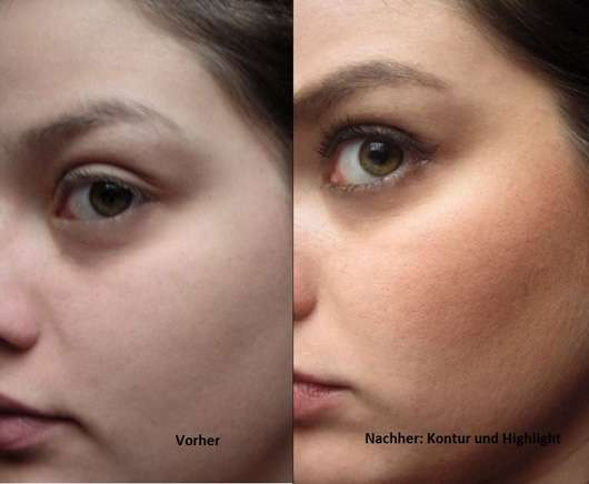 Douglas Make-up Contouring Palette vorher und nachher