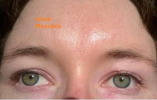 Alterra Perfect Lash Mascara, Farbe: 01 Black Wimpern vor dem Auftragen