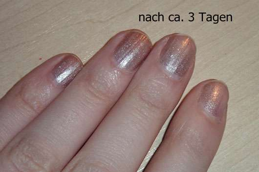 Catrice Moon Rock Effect Nail Lacquer, Farbe: 02 Honey Moon - nach 3 Tagen auf den Nägeln