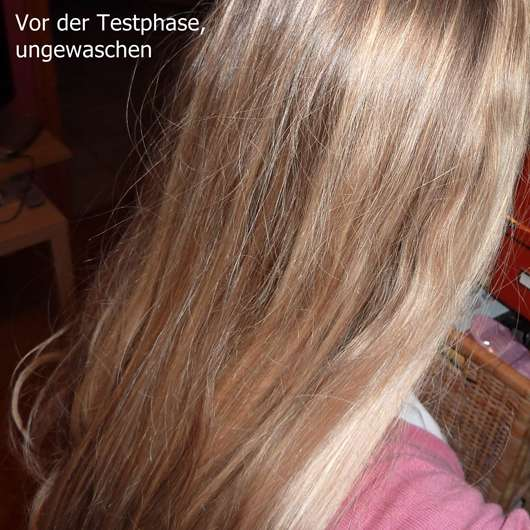 Haare vor der Testphase mit der Dove Volumen & Leichtigkeit Spülung