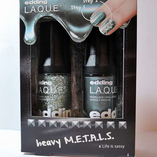 <strong>edding L.A.Q.U.E.</strong> heavy M.E.T.A.L.S. Nagellack - Farbe: full metal S.T.E.E.L. (LE)
