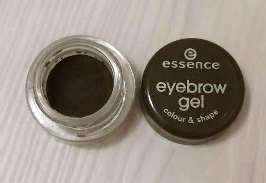 geöffneter Tiegel - essence eyebrow gel colour & shape, Farbe: 01 brown