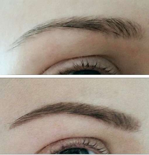 Augenbraue mit essence eyebrow gel colour & shape, Farbe: 01 brown