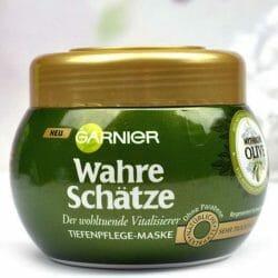 Produktbild zu Garnier Wahre Schätze Der wohltuende Vitalisierer Tiefenpflege-Maske Mythische Olive