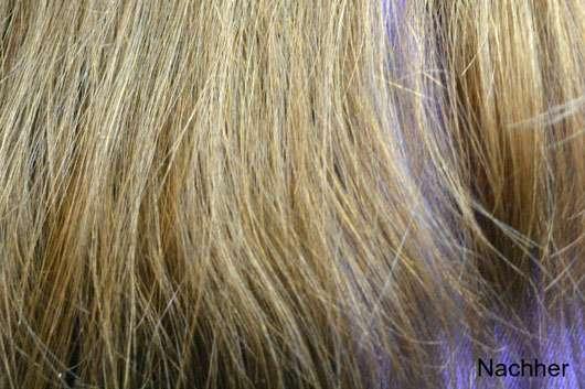 Garnier Wahre Schätze Der wohltuende Vitalisierer Tiefenpflege-Maske Mythische Olive - Haare vor der Anwendung