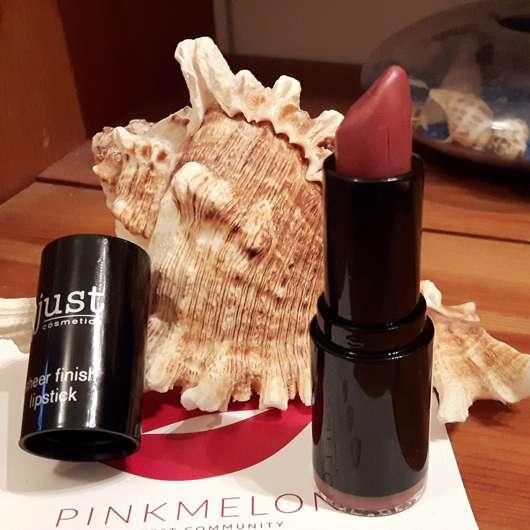 geöffneter just cosmetics sheer finish lipstick, Farbe: 020 interlude