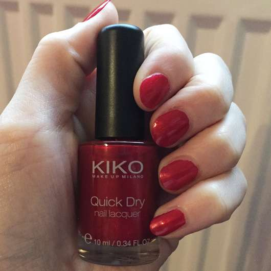 <strong>KIKO</strong> quick dry nail lacquer - Farbe: 846 Metallic Red