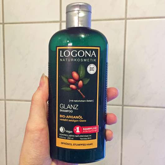LOGONA Glanz Shampoo Bio-Arganöl Flasche