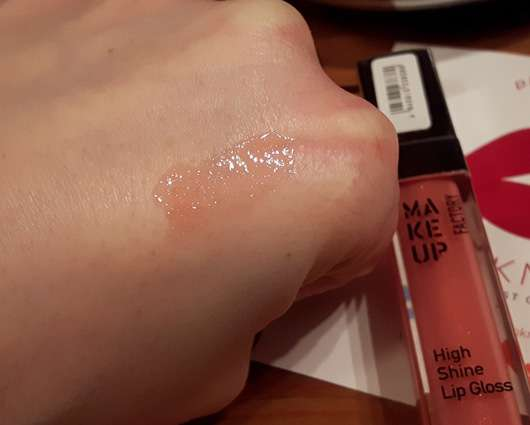 Make up Factory High Shine Lip Gloss, Farbe: 38 Iridescent Apricot Swatch