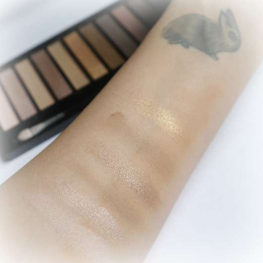 Makeup Revolution Redemption Palette Ionic 1 Swatches ohne Base