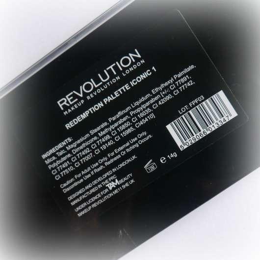 Makeup Revolution Redemption Palette Ionic 1 Herstellerangaben