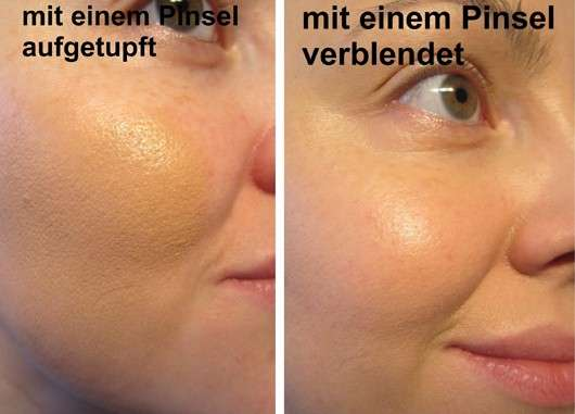 Gesicht mit Max Factor Miracle Touch Foundation, Farbe: 070 Natural