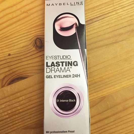 Maybelline Eyestudio Lasting Drama Gel Eyeliner 24H, Farbe: 01 Black Design