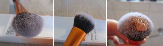 Real Techniques Expert Face Brush Pinsel und Produkt