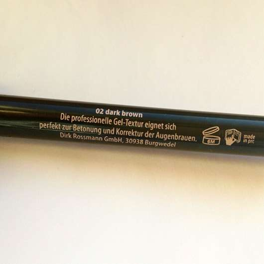 Rival de Loop Young Eyebrow Gel Pencil, Farbe: 02 dark brown - Rückseite