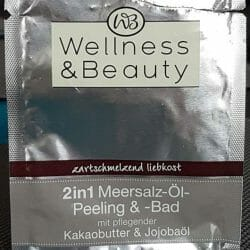 """Produktbild zu Wellness & Beauty 2in1 Meersalz-Öl-Peeling und -Bad """"zartschmelzend liebkost"""" (LE)"""