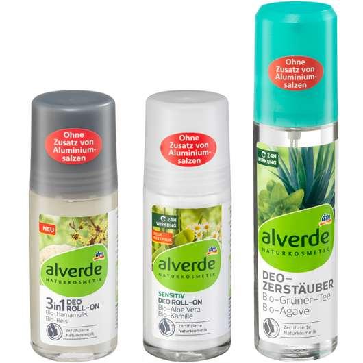 alverde NATURKOSMETIK Deodorant Roll-on und Zerstäuber