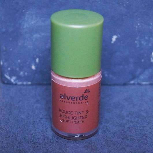 alverde Rouge Tint & Highlighter, Farbe: Soft Peach Flasche