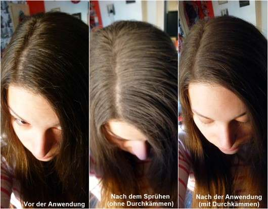 Haare ohne/mit Batiste Hint of Colour Dry Shampoo, Farbe: beautiful brunette