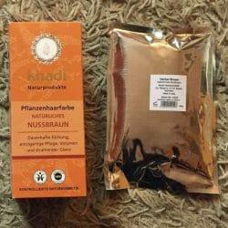 Produktbild zu Khadi Pflanzenhaarfarbe Natürliches Nussbraun