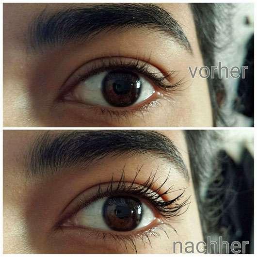 LCN Extreme WOW Effect Volume Mascara, Farbe: Schwarz - Wimpern ohne und mit