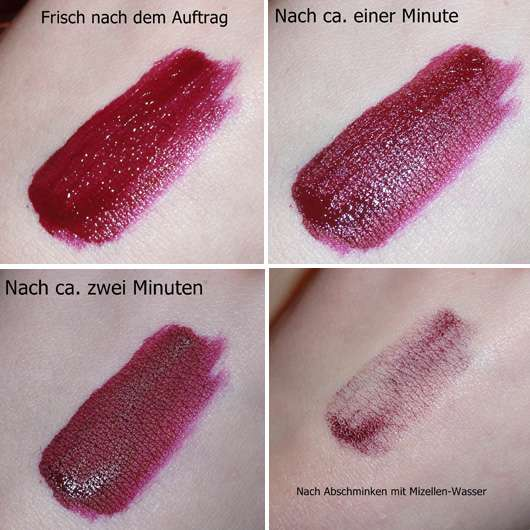 Swatches - Make up Factory Mat Lip Fluid longlasting, Farbe: 36 Wild Berry