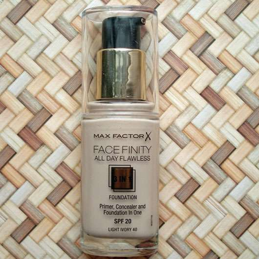 <strong>Max Factor</strong> Face Finity All Day Flawless 3 in 1 Foundation - Farbe: 40 Light Ivory