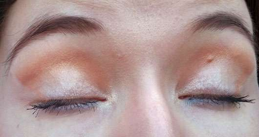 Catrice Pure Metal Palette, Farbe: C01 MEtal, Myself and I (LE) - AMU Augen geschlossen